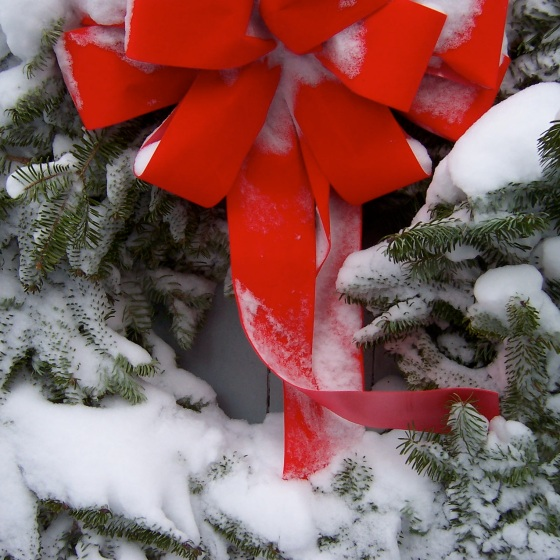 wreath snow
