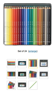 Watercolor pencils to choose from...