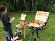 My friend Lynda painting last summer in the garden :O)