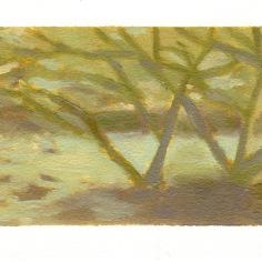 "Garden study - oil on paper - 4.5""x6.5"" - $20.00 -"