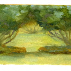 "Garden study- oil on paper - 4.5""x6"" - $20.00 -"