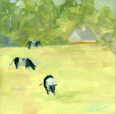 "3 Cows - 6""x6"" signed print $20.00 (original sold)"