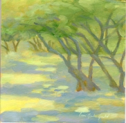 "Blue Shadows - 6""x6"" - oil on panel - $35.00"