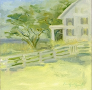 "Hanover House - 6""x6"" - oil on panel - $50.00"