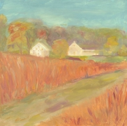 """Fall Field - oil on panel - 12""""x12"""" - $325.00/ Limited Edition giclee prints available """"6x6"""" - $35.00"""