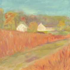 "Fall Field - oil on panel - 12""x12"" - $325.00/ Limited Edition giclee prints available ""6x6"" - $35.00"