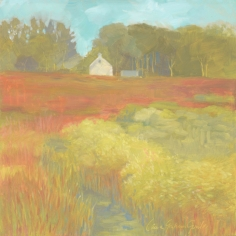 "Red Meadow - Oil on panel - 12""x 12"" - $350.00 / Limited Edition giclee prints available ""6x6"" - $35.00"