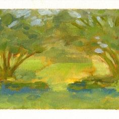 "Garden study - oil on paper - 4.5""x5.5"" - $20.00 -"