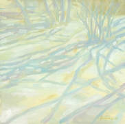 """Snow Shadows-g- 12""""x12"""" oil on panel - $350.00 / Limited Edition giclee prints available """"6x6"""" - $35.00"""
