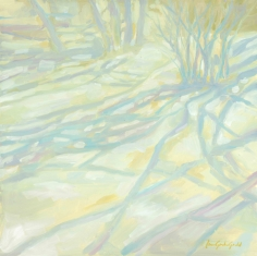 "Snow Shadows-g- 12""x12"" oil on panel - $350.00 / Limited Edition giclee prints available ""6x6"" - $35.00"