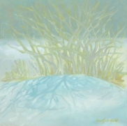 """Snow Brambles - Oil on panel - 10""""x10"""" - $325.00/ Limited Edition giclee prints available """"6x6"""" - $35.00"""