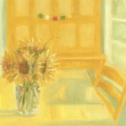 """Sunflowers - 6""""x6"""" Limited Edition signed print $35.00 (original sold)"""