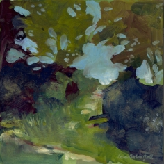 """Through the Hedgerow - 6""""x6"""" Limited Edition signed print $35.00 (original sold)"""